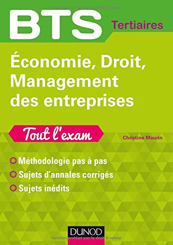 Economie, Droit, Management des entreprises BTS Tertiaires par From Dunod