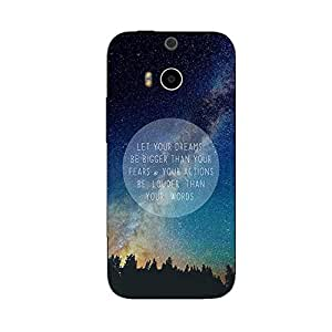 DREAMS ACTIONS WORDS BACK COVER FOR HTC ONE M8