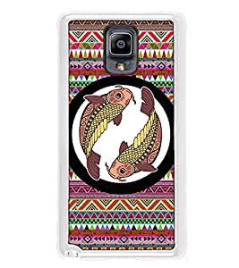 Fuson Designer Back Case Cover for Samsung Galaxy Note 3 :: Samsung Galaxy Note Iii :: Samsung Galaxy Note 3 N9002 :: Samsung Galaxy Note 3 N9000 N9005 (zodiac sign meen fish symbols rashi chakra)