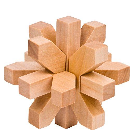 zantec Spielzeug traditionellen Holz Pflaume Blossom Lock Teaser lehrreich Gehirn, Kong Ming Puzzles Spielzeug für Kinder und Erwachsene Ming Blossom