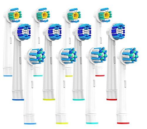 CARETIST 3*4 Multi Pack Aufsteckbürsten für Oral B Elektrische Zahnbürsten, 3DWhite, Precision Clean, CrossAction, 12 Stück, Voll kompatibel mit Braun Oralb Vitality, Pro Health, TriZone, Advance Power, Genius 8900, 9000, Professional Care, Triumph und Deep Sweep