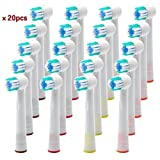 by HLC 20PCS Electronic Tooth Brush Replacement Heads Spare Brushes Compatible with Oral B Vitality Precision Bild