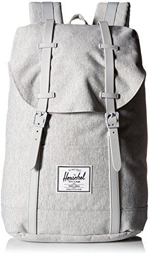 Herschel Retreat Backpack Rucksack 43 cm Light Grey Crosshatch/Grey Rubber