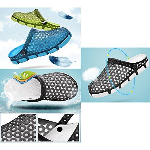 Eastlion Herren Gelee Hohl Atmungsaktive Sandalen Massage Bottom Half Slippers Sommer Beiläufig Loch Schuhe Stil 1 Grün