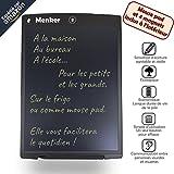 Tableta de escritura Menker de 12 'con alfombrilla de ratón y 4 imanes incluidos, pizarra LCD...