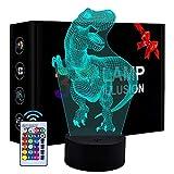 Eala Veilleuse de Dinosaure pour Enfants, Cadeau d'anniversaire pour 3-8 Ans Jouets pour Enfants Dimmable 3D LED Veilleuse Jouets pour Enfants pour 3-10 Ans Cadeau pour Enfants
