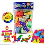#10: Happy GiftMart High Quality 85 Pieces Lego Like Colorful DIY Mini World Building Blocks Educational Learning Kids Puzzle Construction Toy