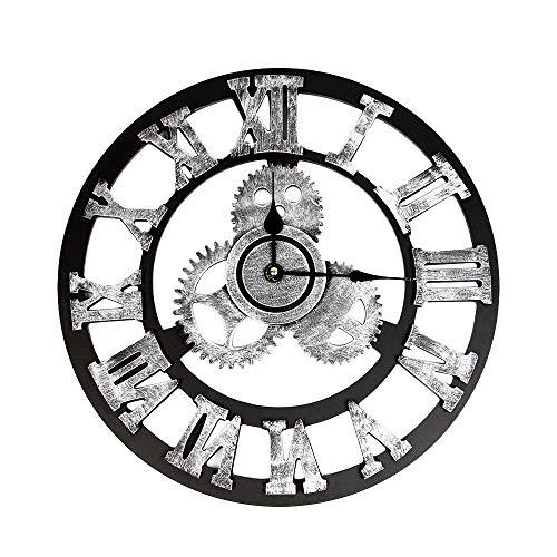 Mitlfuny Weihnachten Home TüR Dekoration 2019,Industrielle Art-Weinlese-Uhr-Europäer Steampunk-Gang-Wand-Ausgangsdekoration