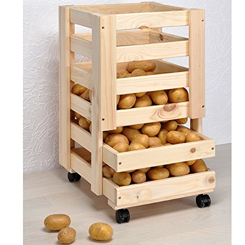 JEMIDI Kartoffelregal Kartoffelhorde Obstregal Horde Obstkiste Kartoffelkiste Kartoffellager Gemüseregal