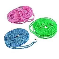 AADYA 3 Meter Nylon Clothesline Rope (Color May Vary 3 meter)