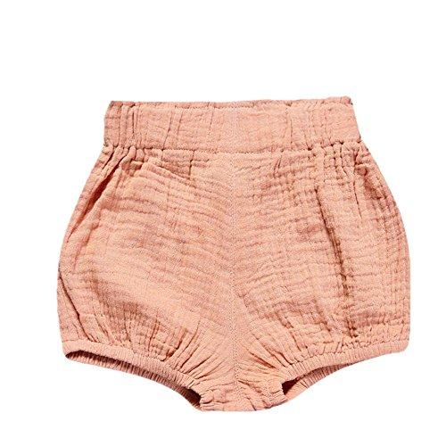 JERFER Säugling Kleinkind Kinder Unterwäsche Nettes Baby Mädchen Jungen Dot Geometrische Shorts Hosen Leggings 6M-5T (Rosa, 6M)