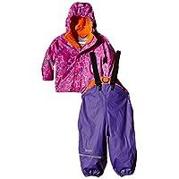 CareTec Kids Rain-Clothing Set, Mehrfarbig (Purple 633), 128