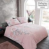 Catherine Lansfield Oriental Blossom Set Copripiumino, Blush, Doppio
