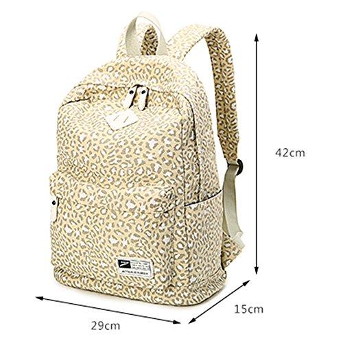 BUOU Schulranzen Beiläufig Schulrucksack Damen Mädchen Süß Bücher Rucksack Reise Shopping Schultasche Rucksackhandtaschen Braun