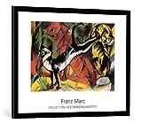 kunst für alle Bild mit Bilder-Rahmen: Franz Marc DREI Katzen 1913