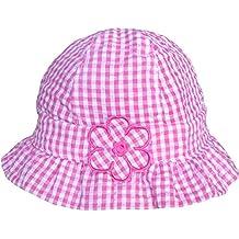 Bañador para bebé de color rosa y blanco lazo en cuadro de diseño de patrón de tela diseño de margaritas Summer gorro de diseño de sol Diseño de playa