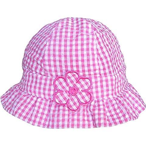 Bébé fille Motif vichy Rose & Blanc Motif Chapeau de Plage Soleil