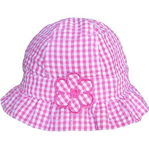 Baby Pink Gingham-Muster & Wei Gnseblmchen Sommer Strand Sonne Hut, Rose, 3-6 Months (46cm) (Daisy Baby-hüte)