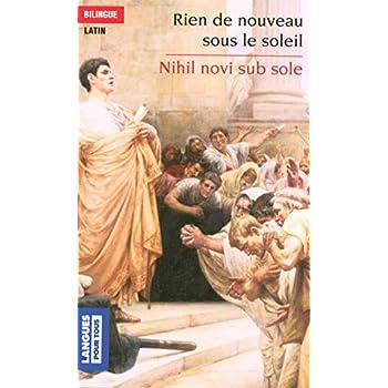 Nihil novi sub sole - Rien de nouveau sous le soleil