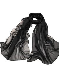 Echarpe Foulard Grands Mousseline de Mode pour Fille Femme