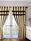 PORTIERE JUTE DOUBLE PATCH CURTAIN BEIGE 7FT