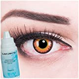 Fasching Kontaktlinsen Farbige Kontaktlinsen crazy Kontaktlinsen crazy contact lenses Orange Werewolf Werwolf Twilight Kontaktlinsen 1 Paar perfekt zu Halloween. Mit Behälter und 60ml Pflegemittel