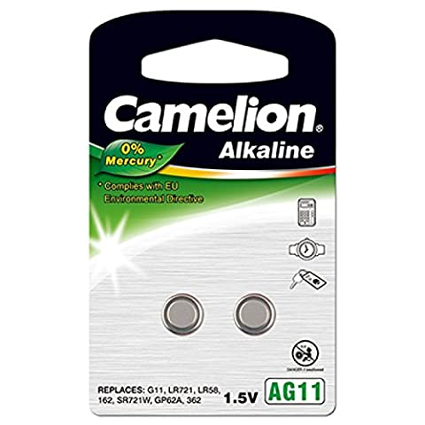 Camelion Knopfzelle LR721 2er Blister, Alkaline, 1,5V