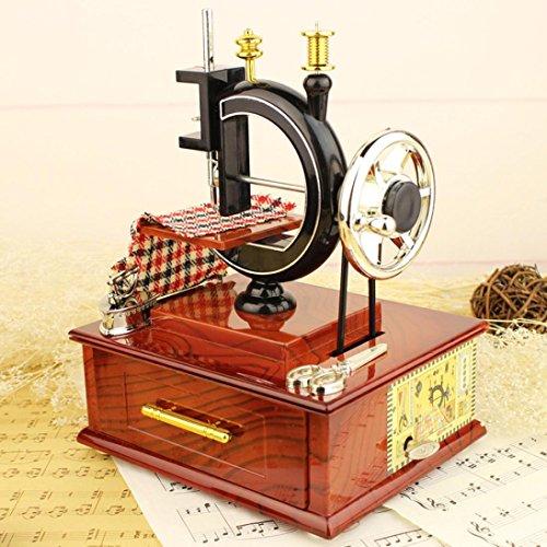 Sensail Boîte à musique, Rétro Machine à coudre décorative Cadeau d'Anniversaire