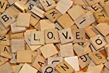 Royalr Spielzeug 100pcs Holz Scrabble Fliesen Schwarz A-Z Buchstaben Zahlen Spielzeug für Kinder Educational