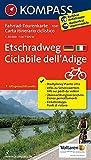 Etschradweg - Ciclabile dell'Adige: Fahrrad-Tourenkarte. GPS-genau. 1:50000.: Fietsroutekaart 1:50 000 (KOMPASS-Fahrrad-Tourenkarten, Band 7041)