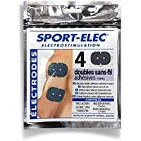 Sport-Elec Easf–Juego de 4electrodos para aparatos, Color Negro FR: Adultos (Talla Fabricante: única)