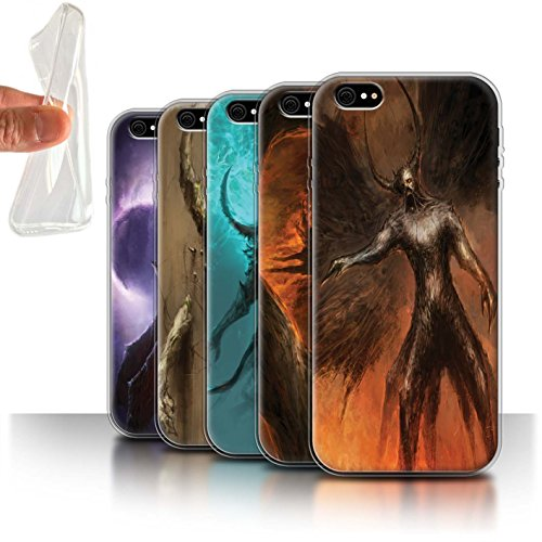 Offiziell Chris Cold Hülle / Gel TPU Case für Apple iPhone 6+/Plus 5.5 / Geist/Ghul Muster / Dunkle Kunst Dämon Kollektion Pack 10pcs