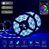 LED Streifen, Bluetooth LED Strip 10m LED Band RGB LED Strips Ip65 Wasserdicht 5050 300 LED Stripes Mit Smart Bluetooth Kontroller LED Deckenleuchte Mit Fernbedienung...