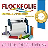 (EUR 25,80 / Quadratmeter) FLOCKFOLIE Pink 517 BÜGELFOLIE TOP ! Preistip Flex Flock 1 M x 50 cm