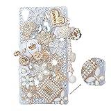 Spritech (TM 3D Hecho a Mano Moda Chica Mujer Extrema-Funda de diseño de Diamantes de imitación Beautiful Flower Bling Calabaza Coche decoración Bla