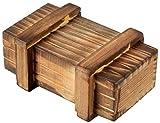 Knifflige Trick-Geschenkbox (kreatives Geldgeschenk für Hochzeit, Geburtstag, Vatertag, Muttertag, Jahrestag, Weihnachten & Partys) - ECHT-HOLZ   Originelle Geschenkidee & Verpackung als Schatztruhe, Zauber-, Rätsel- & Trickkiste -