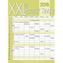 XXL Family Timer 8 2018: Familientimer mit Ferienterminen und Vorschau bis März 2019