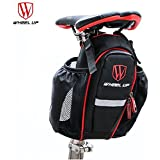 Generic Black And Red : Wheel UpCycling Bags Can Put Two Water Bottle Bicycle Seat Post Bag MTB Road Bike Seat RearTail Pouch Bottle Bag Bike Saddle Bag