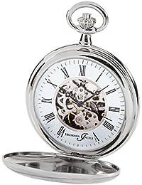 Hermann Jäckle Bayreuth Skelett Taschenuhr mit Handaufzug 31-913 incl. Kette & Uhrenbox