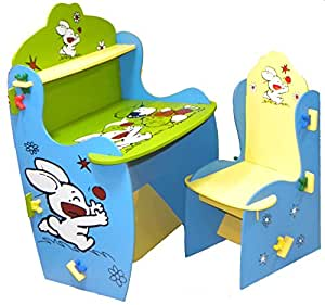 wood o plast knock down kids study table chair set baby. Black Bedroom Furniture Sets. Home Design Ideas