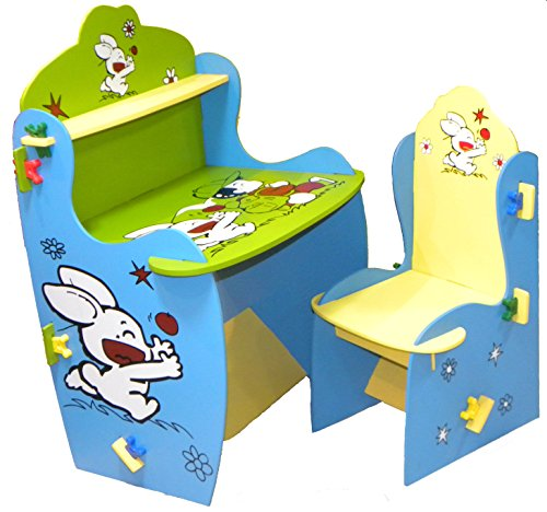 Wood O Plast Knock Down Kids Study Table Chair Set