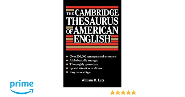 Buy The Cambridge Thesaurus of American English Book Online at Low