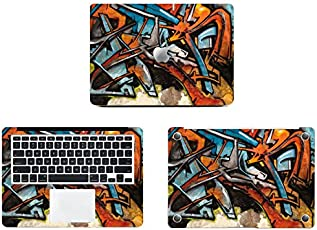Theskinmantra Graffiti Touch Full Body Decal/Sticker/Vinyl for Apple MacBook Air 13, A Pack of 3 pcs
