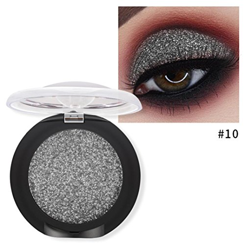 schatten Diamant Make-up Perle Metallic Lidschatten-Palette Make-up Avai (J) (Silber Metallisch Creme Make Up)