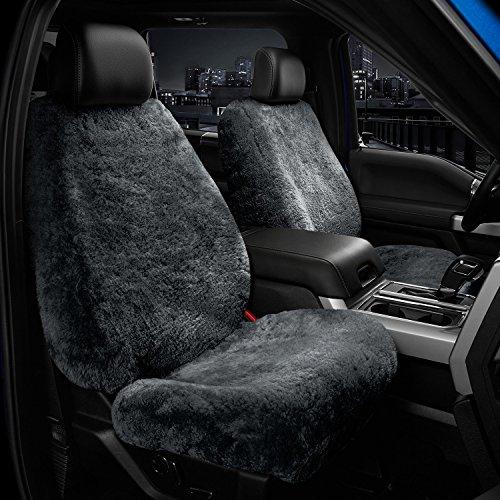 Preisvergleich Produktbild KANEX - Autositzbezüge Schaffell - Merino Schwarz - Universalgröß - Sitz 1 Stück