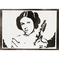 Prinzessin Leia STAR WARS Handmade Street Art - Artwork - Poster