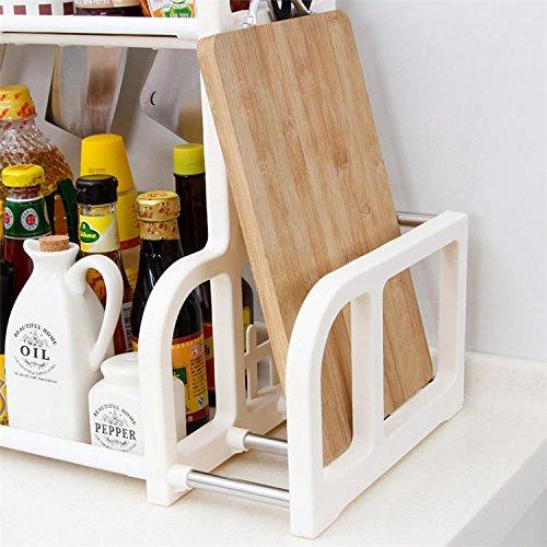 Anddod Double Layer Spice Jar Rack Storage Shelf Pantry Kitchen Cabinet Cupboard Holder -
