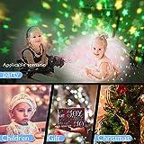 Amouhom Sternenhimmel Projektor Lampe mit Fernbedienung, LED Nachtlicht mit Wiederaufladbare Batterie 360 Drehen und Timing Schlaflicht für Kinders Schlafzimmer Romantische Geschenke für Frauen(Grün) - 6