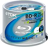 TDK Blu-ray Disc 50 Spindle - 25GB 4X BD-R - Printable