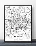 Bilder Auf Leinwand,Einfacher Stil, Karte Von Frankreich